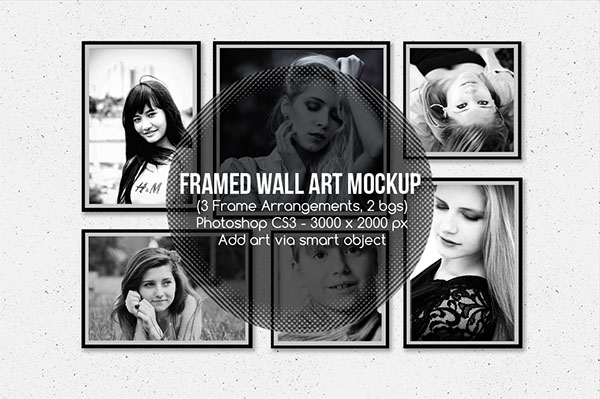 Framed Wall Art Mockup Designs