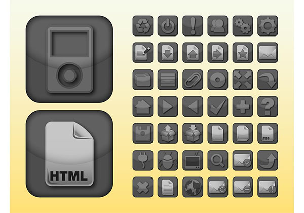 Free Apps Icon Buttons