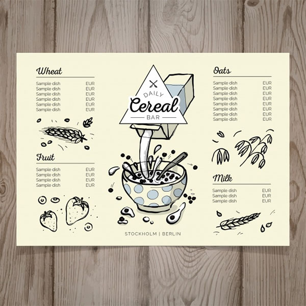 Free Breakfast Menu Template