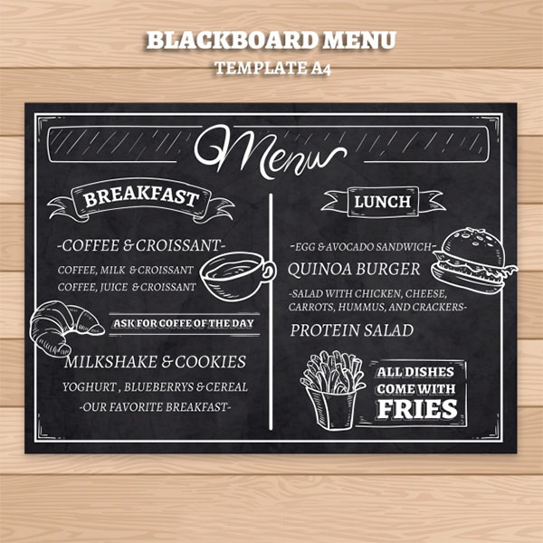 Free Breakfast Restaurant Menu Template