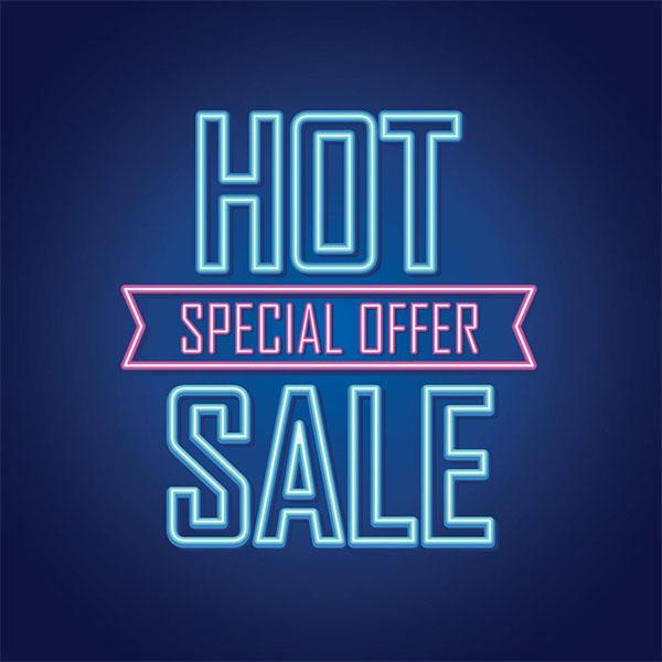 Free Bright Neon Sale Sign