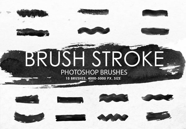 Free Ink Stroke Photoshop Brushes