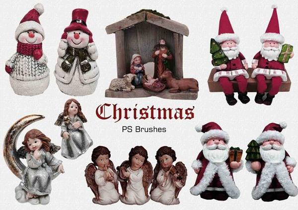 Free Christmas Photoshop Brushes