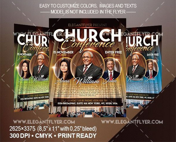 Free Church Conference Flyer Template