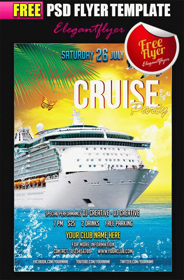 23  cruise flyer templates