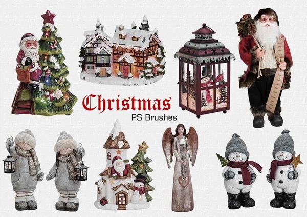 Free Christmas Santa Photoshop Brushes