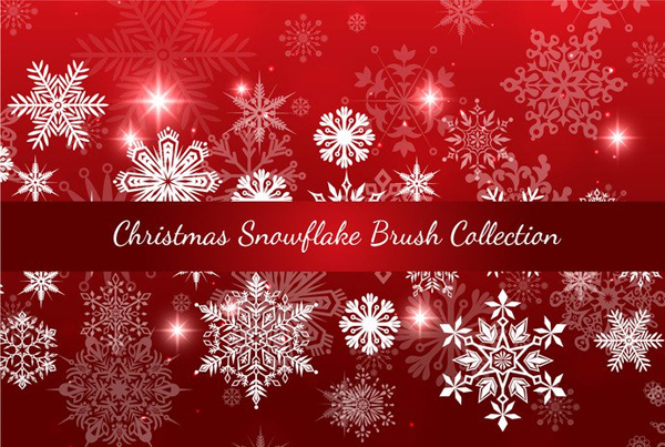 Free Download Christmas Snowflake Brush Collection