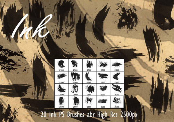 Free Download Ink PSD Brushes