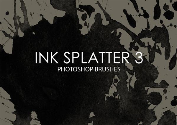Free Download Ink Splatter Photoshop Brushes