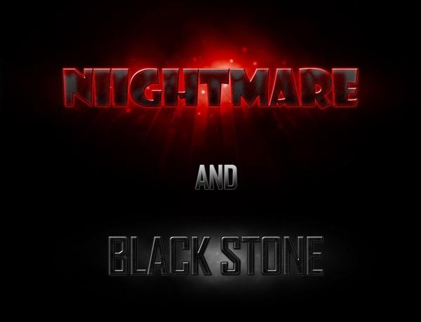 Free Download Nightmare & Black Stone Photoshop Styles