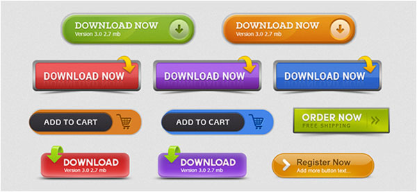 Free Download Best PSD App Buttons