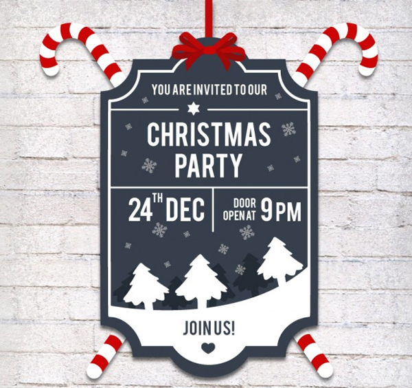 graphic about Free Printable Christmas Invitation Templates referred to as 34+ Xmas Get together Invitation Templates - Free of charge PSD Vector