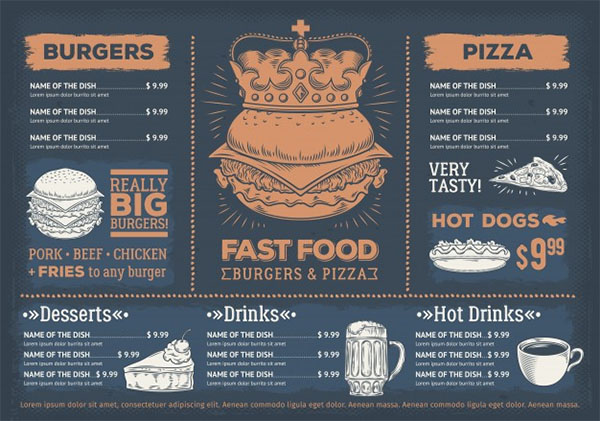 Free Fast Food Breakfast Menu Template