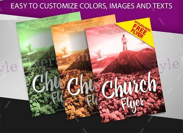 Free Hurch PSD Flyer Template
