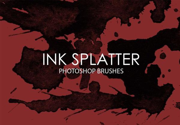 Free Ink Splatter Photoshop Brushes