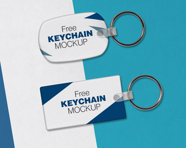 Free Keychain Mock-Up PSD Files