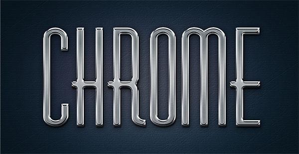 Free Metal Chrome Layer Styles PSD