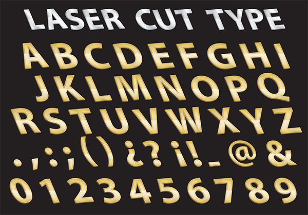 Free Metal Laser Cut Type Styles