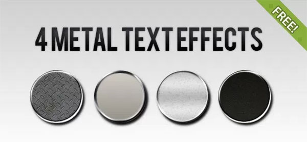 Free PSD Metal Text Effect Styles