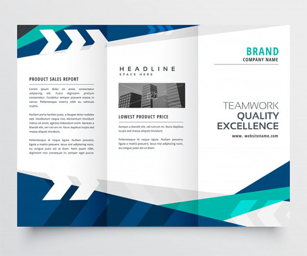 Free Modern Trifold Business Brochure