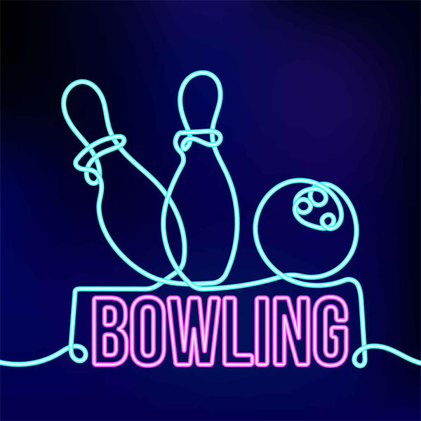 Free Neon Bowling Style