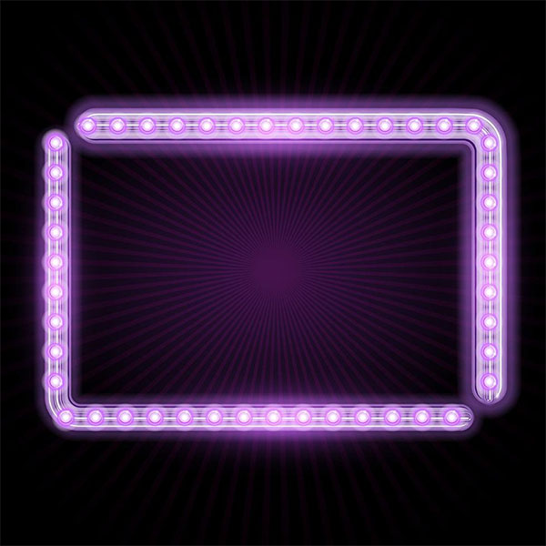 Free Neon Frame Design