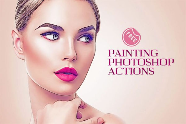 Free Oil Painting Photoshop Action Effect