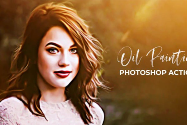 Free Oil Photoshop Painting Actions