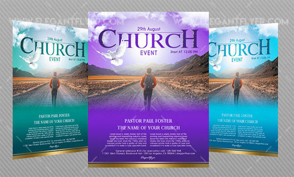 Free PSD Church Event Flyer Template