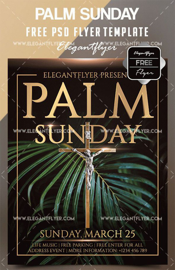 Free PSD Church Invitation Flyer Templates