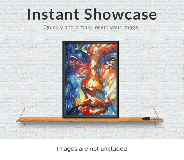Free PSD Frame on Shelf Mock-Up