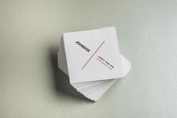 Free PSD Best Mini Card Mockups
