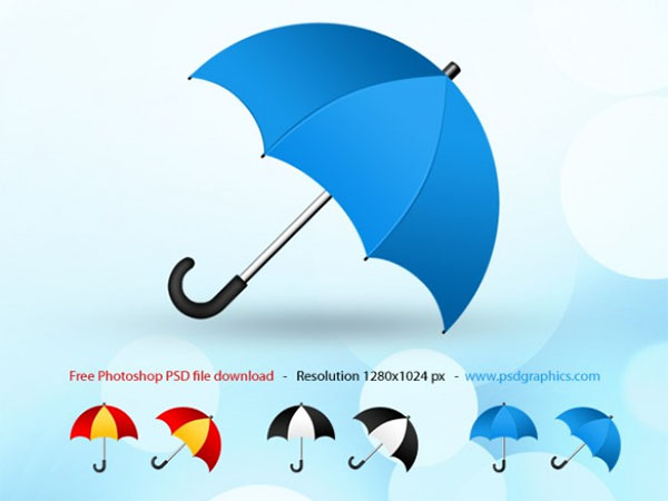 Free PSD Umbrella Design