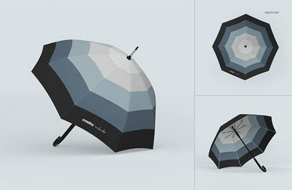 Free Umbrella Mockup Set