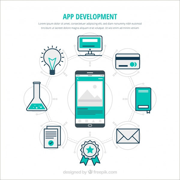 Free Vector App Development Concept Designs