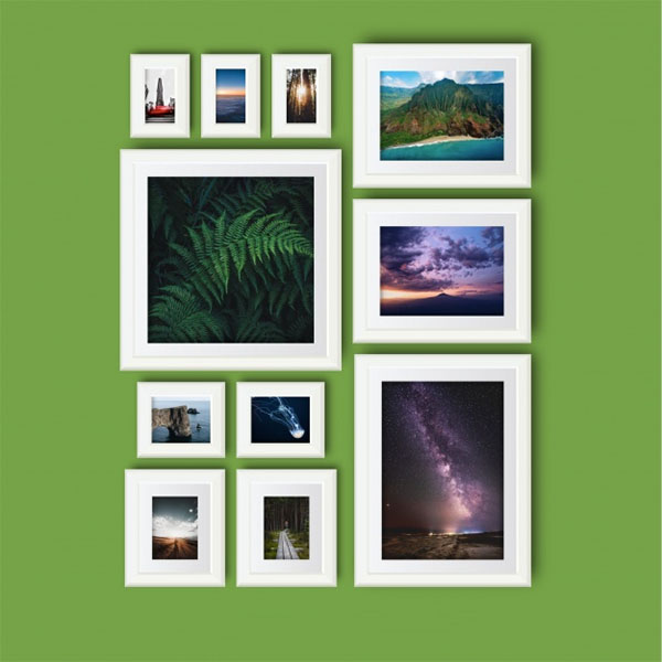 Free Vector Art Photo Frame Collage Mockup