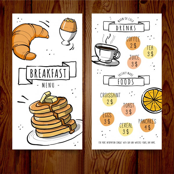 Free Vector Breakfast Menu Template