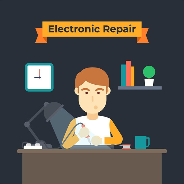 Free Vector Computer Electronic Repair Flyer