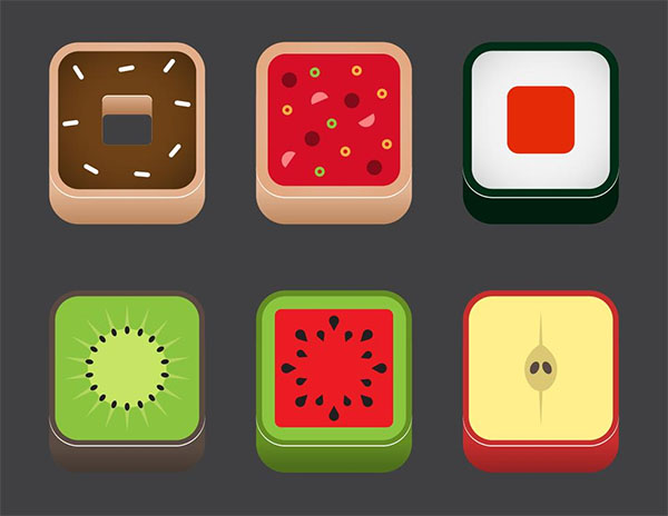 Free Vector Food App Icons