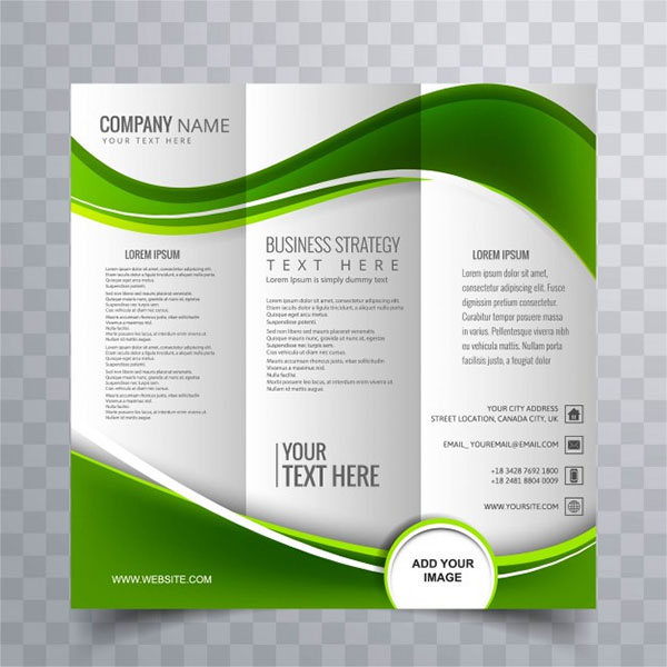 Free Vector Green Wavy Best Marketing Brochure Templates