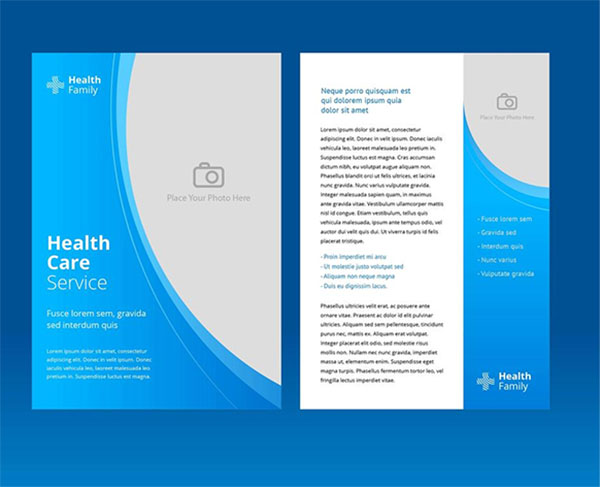 Free Vector Health Care Brochure Template