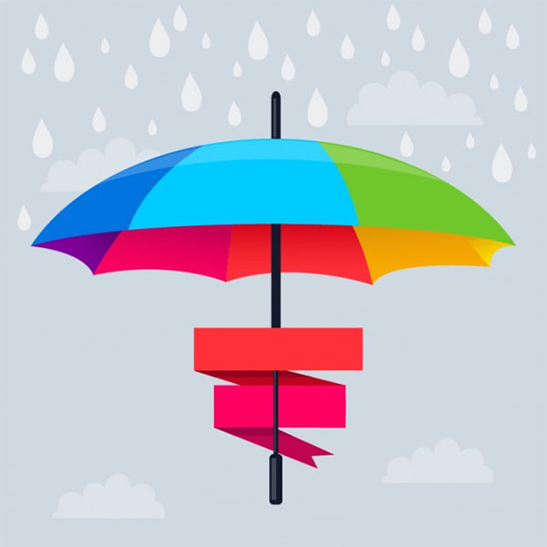 Free Vector Rainbow Umbrella