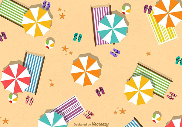 Free Vector Summer Beach Umbrella Design