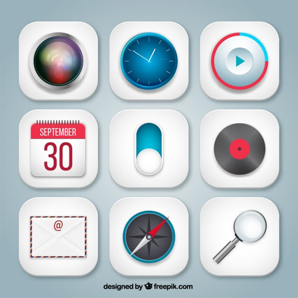 Free Vector Variety App Icons