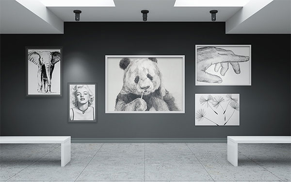 Free Art Gallery Mockup Design