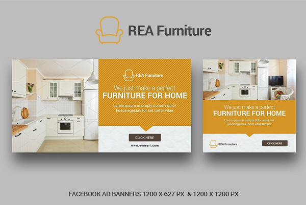 Furniture Facebook AD Banners