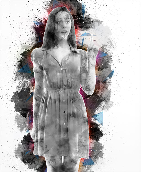 Abstract Grunge Photoshop Actions