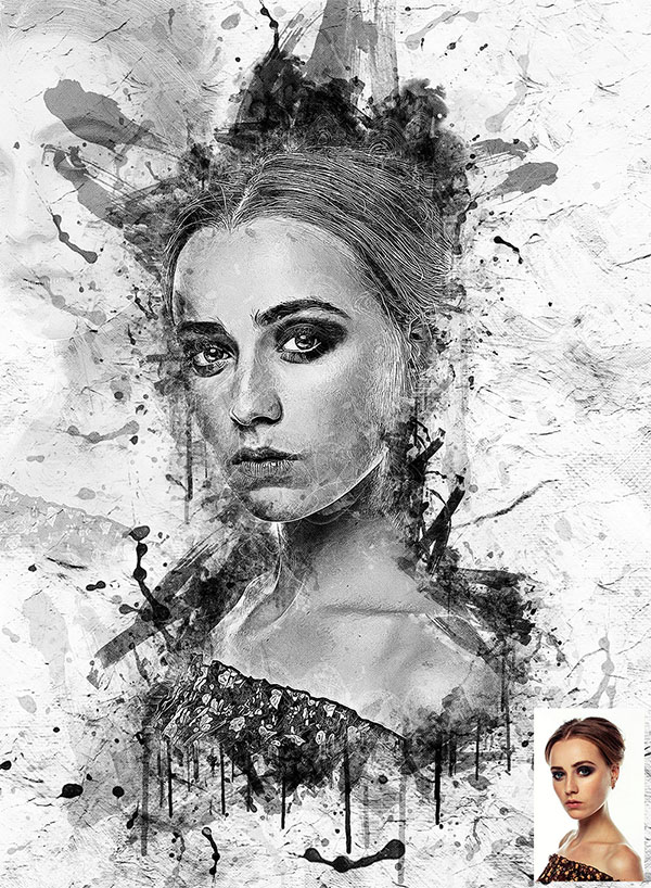 Abstract Impression Photoshop Actions