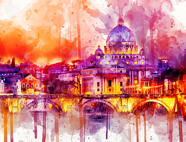 Abstract Ink Art Photoshop Action Design