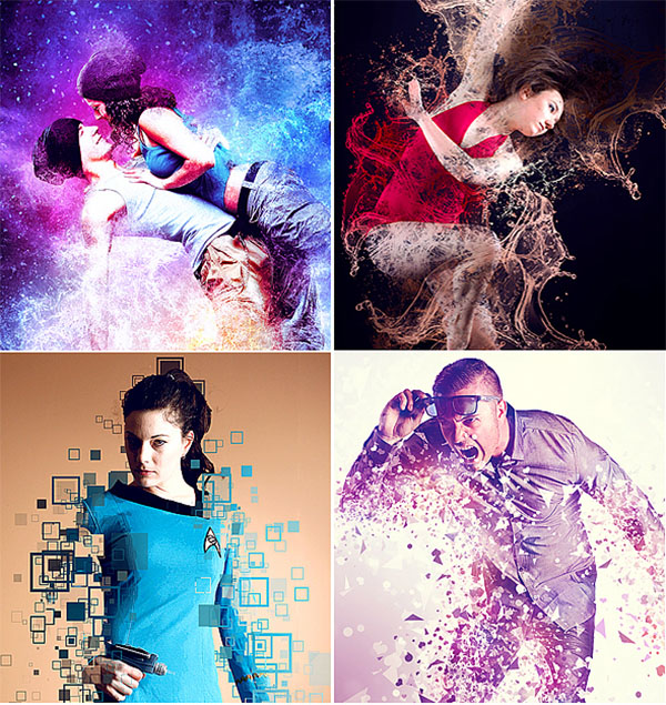 Abstract Photoshop Action Bundles